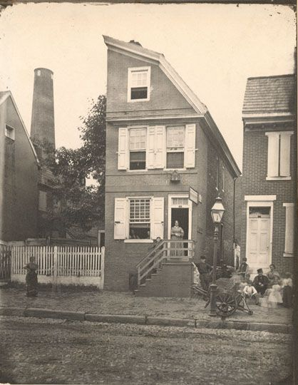 "Half-house, Front Below Christian Street ~~ ""Half-houses"