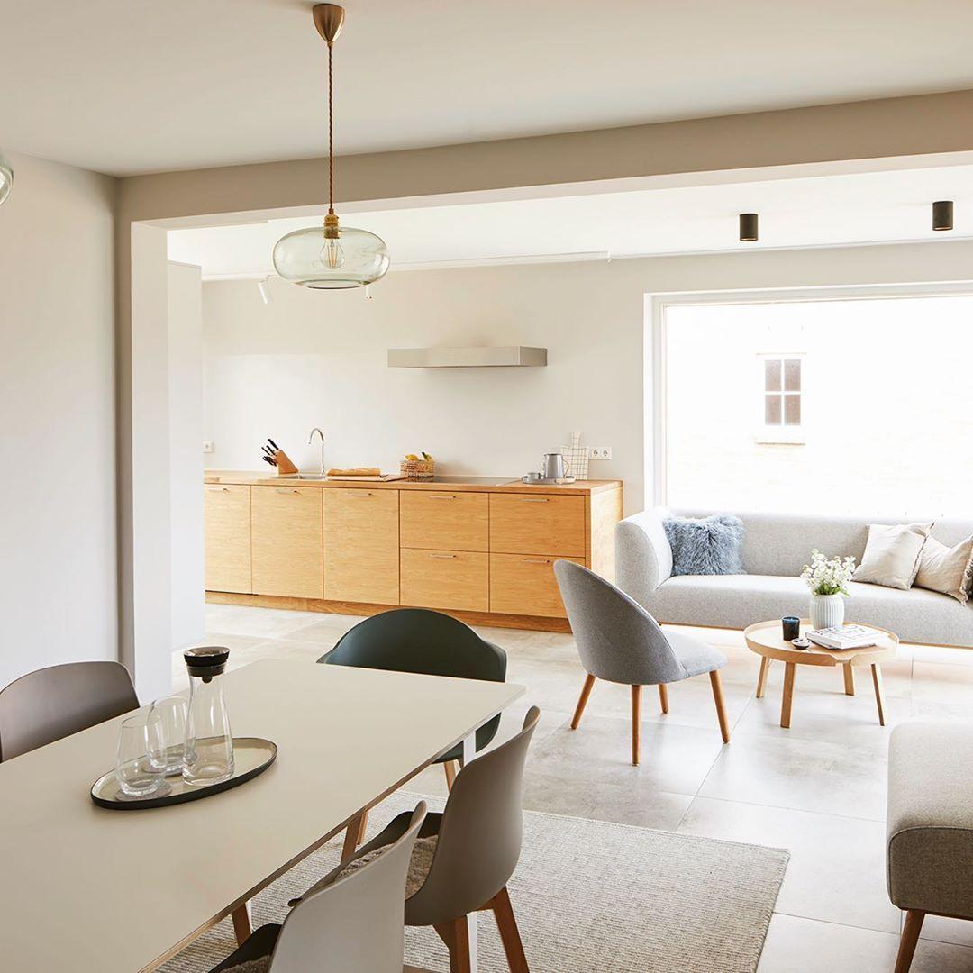 Helles Interieur | Offene wohnräume, Interieur, Wohnraum