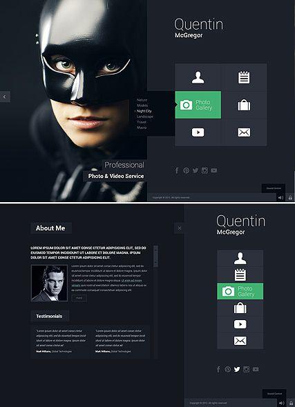 Photo Portfolio Fullscreen Web Design Photo Gallery Video Portfolio Creative Design