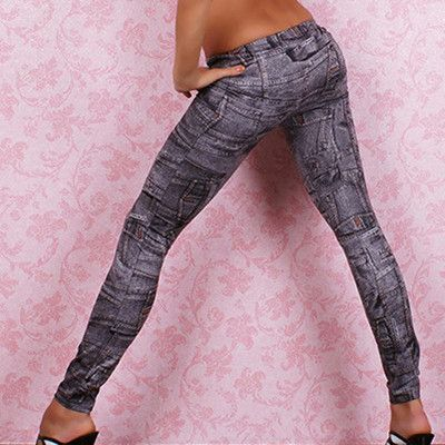 2b8b91bc8e1b One size Stretchy Jean look Fashion legging for women sexy Leggins Slimming  Jeggings Wholesale free shipping  Top1