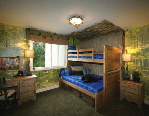 custom your kids bedroom with jungle theme ideas home decorating