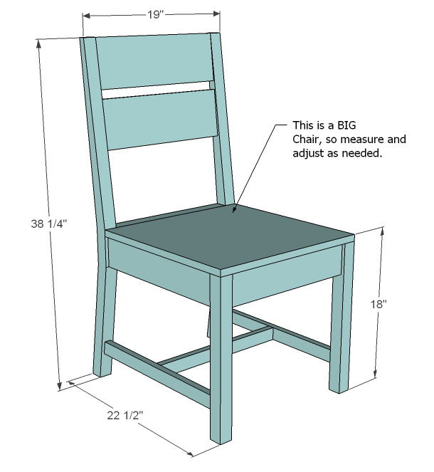 Ana white build a classic chairs made simple free and for Chair design basics