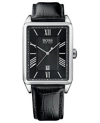 Hugo Boss Watch, Men's Black Leather Strap 33mm 1512425