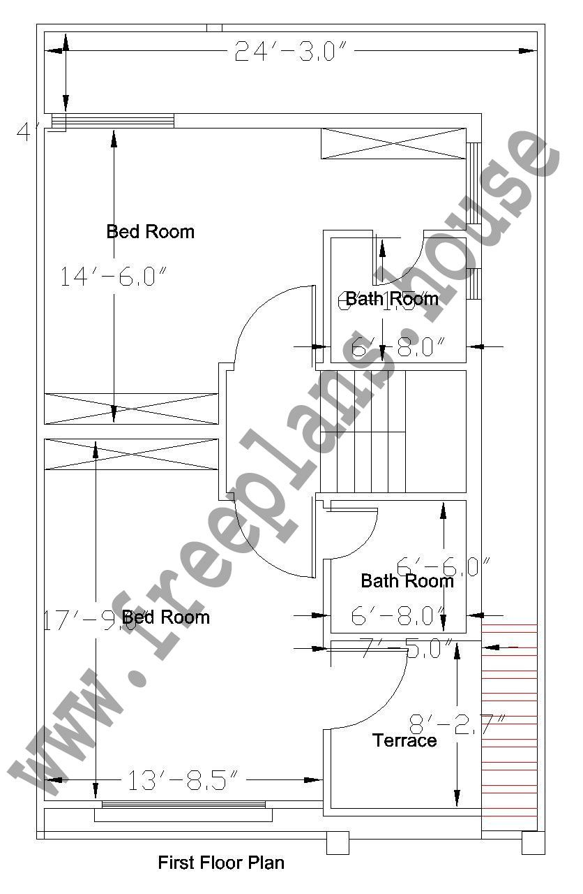 25x40 feet first floor plan plans pinterest simple for 25x40 house plan