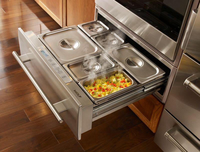 Mant n tus alimentos calientes en un caj n caliente de - Cocinas wolf ...