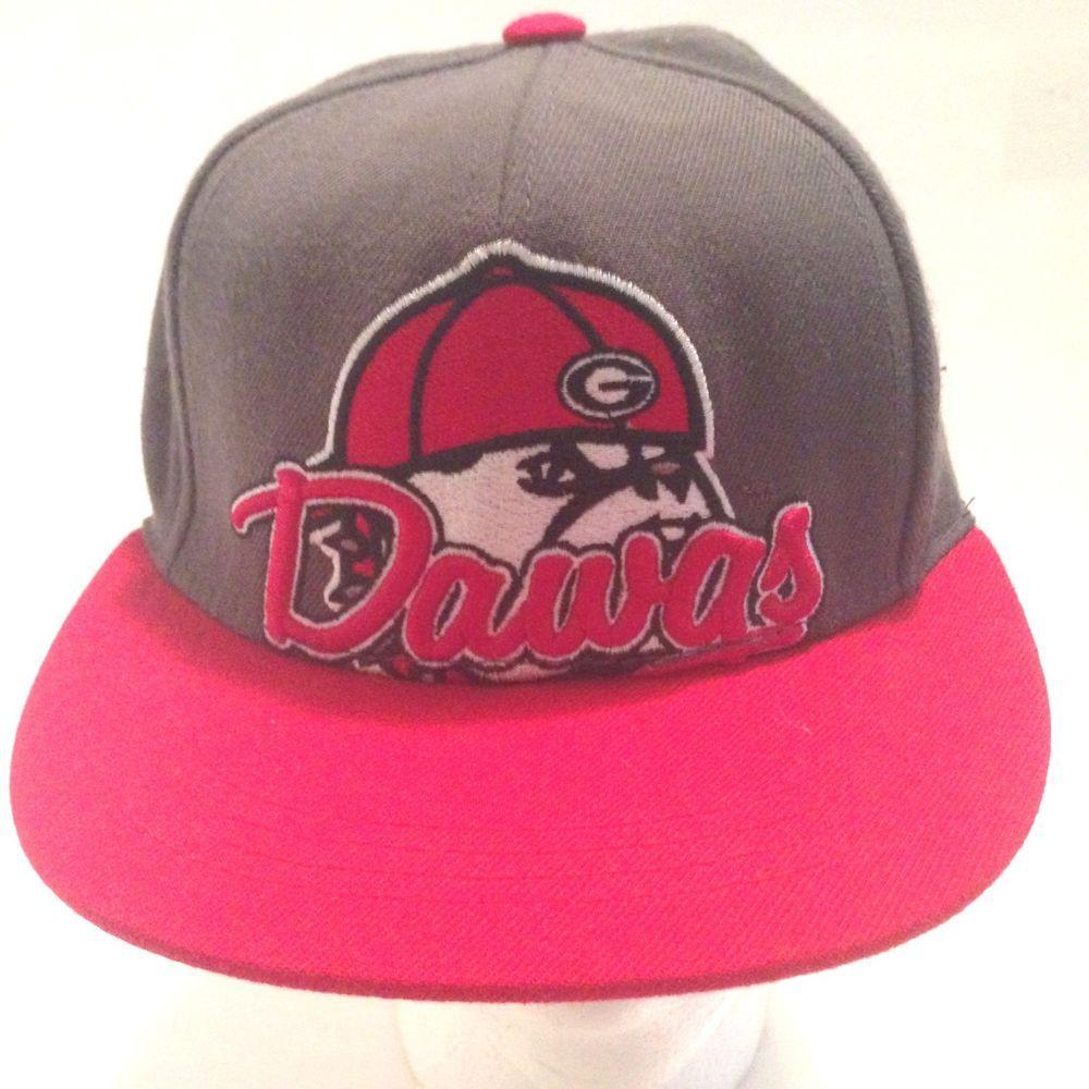 NCAA Georgia Bulldogs Dawg Top of the World  Snapback Two Tone Flat Bill  Hat e75e5a9e9ce