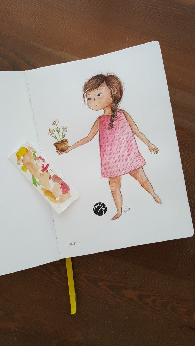 Kinderbuchillustration Kinderbuch Aquarell Watercolor
