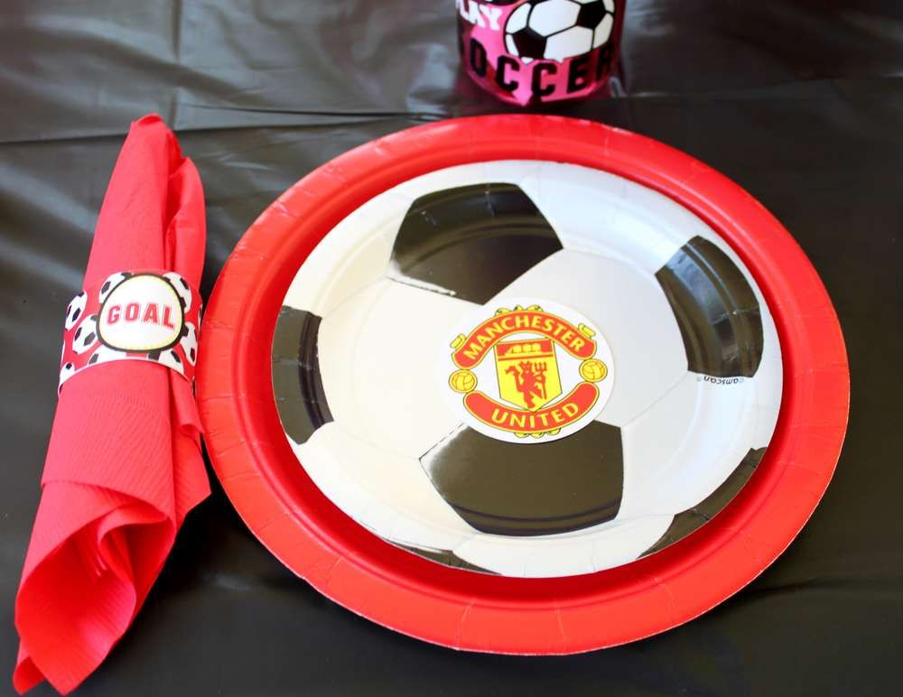 Manchester United Soccer Party Birthday Party Ideas Photo 12 Of 15 Soccer Theme Parties Soccer Theme Soccer Birthday Parties