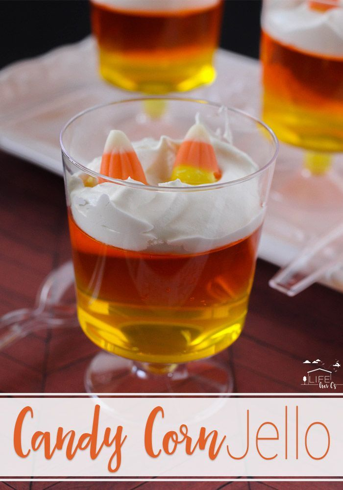 Easy Candy Corn Jell-O Parfaits for Fall