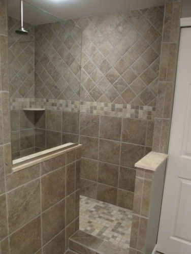 Like The Shower With No Door Master Bathroom Shower Showers