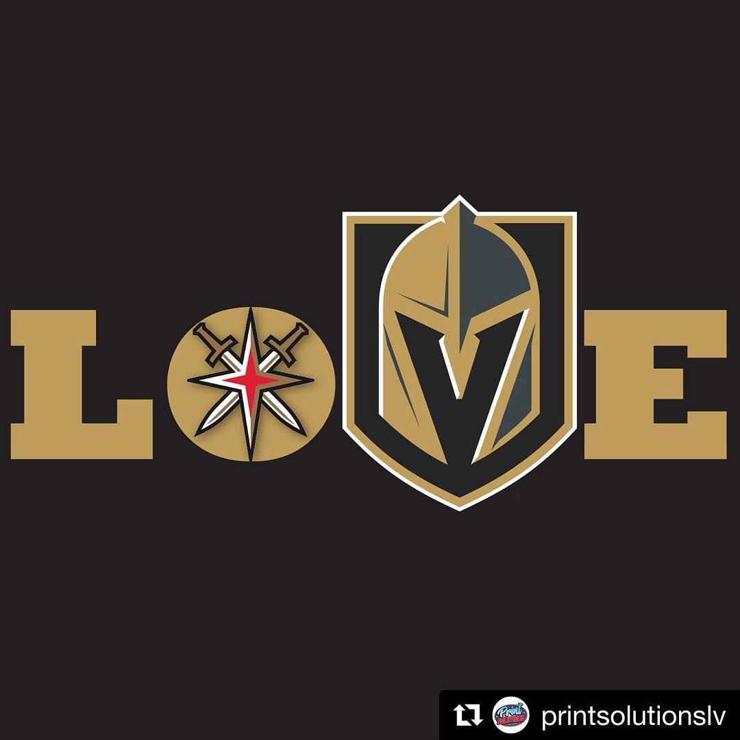 Goknightsgo Repost Printsolutionslv Tough Loss Last Night But We Still Love Our Vegasgoldenkn Golden Knights Logo Vegas Golden Knights Golden Knights Hockey