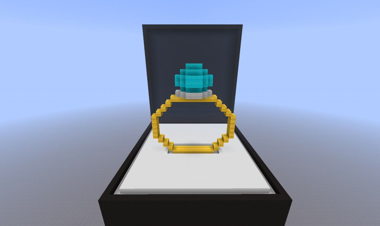 minecraft diamond ring This would be a cute way to ask Preston