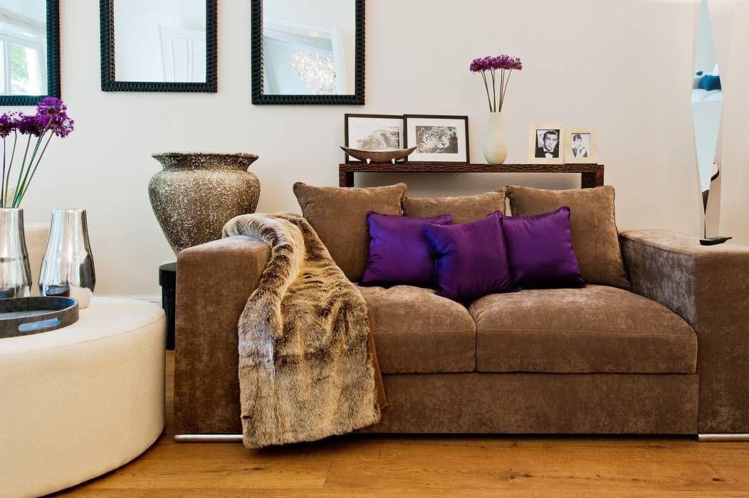 Klassische Wohnzimmer Bilder Wohnräume Cozy living - wohnzimmer grau magenta
