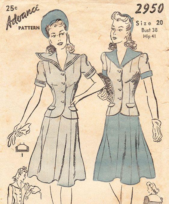 Advance 5397   Vintage sewing patterns, Vintage dress