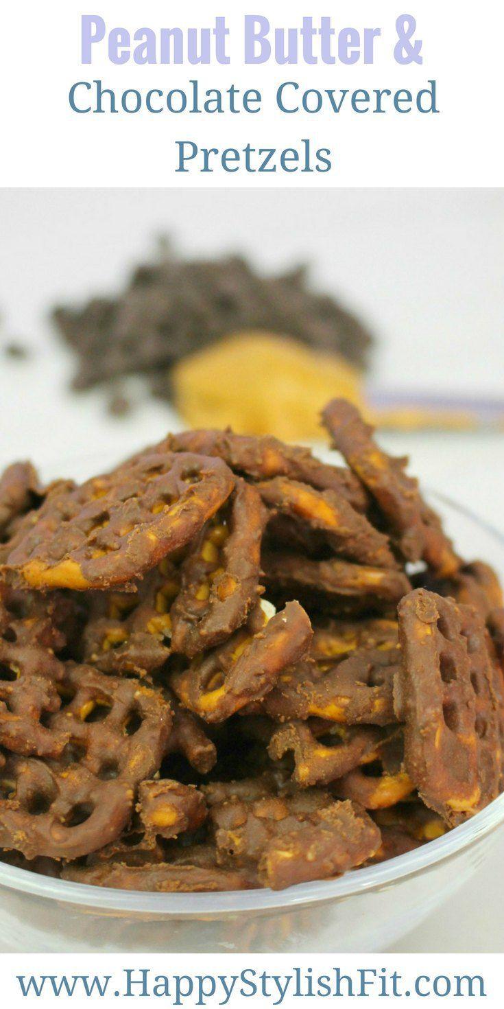 Chocolate Peanut Butter Covered Pretzels | Recipe ...