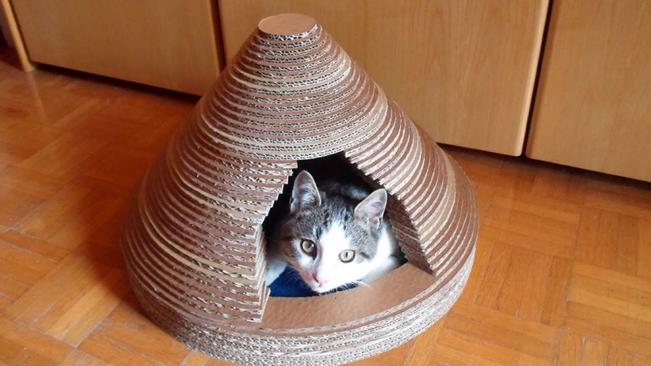 Pinterest Cardboard Cat House Cat Scratch Furniture And Cat Castle - How to build a cardboard cat house diy home tutorial guidecentral youtube