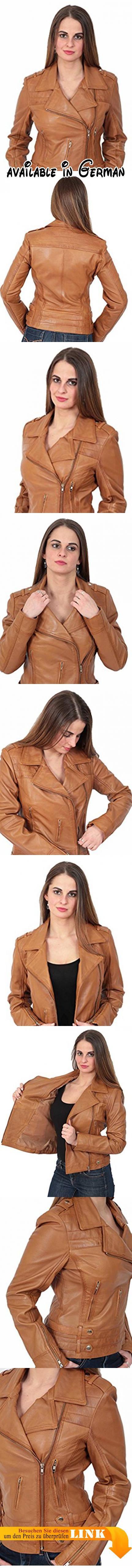 Neueste Young Damen Fitted Leder Leder Biker X-Zip Mode Jacke Beverly  Hellbraun (XL - EU 42). Beliebte Damen Biker Jacke, aus weichem  italienischem… 2855aecd53