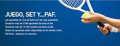 el forero jrvm y todos los bonos de deportes: paf bono 50 euros devolucion apuestas tenis 8-14 j...