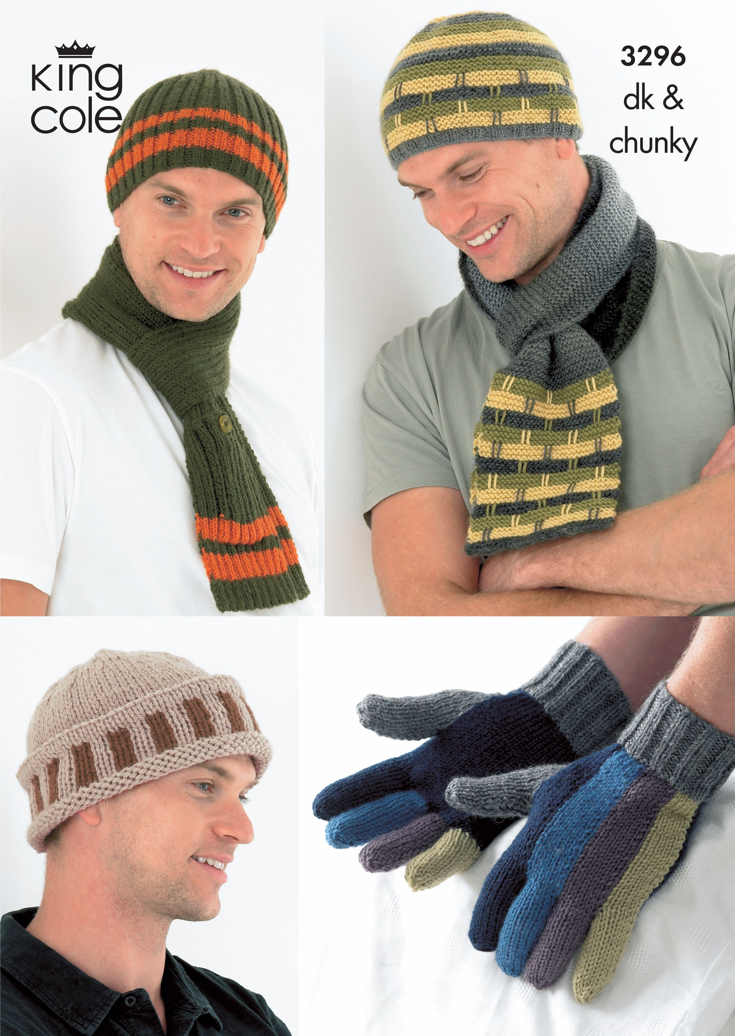 Men\'s knitted Hats, Scarves and Gloves - King Cole | Father\'s Day ...