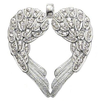 Thomas sabo silver cz heart angel wings pe373 051 14 fashion ts 925 sterling silver white zirconia angel heart shape wing necklaces pendants thomas style jewelry pendant necklace for women mozeypictures Choice Image