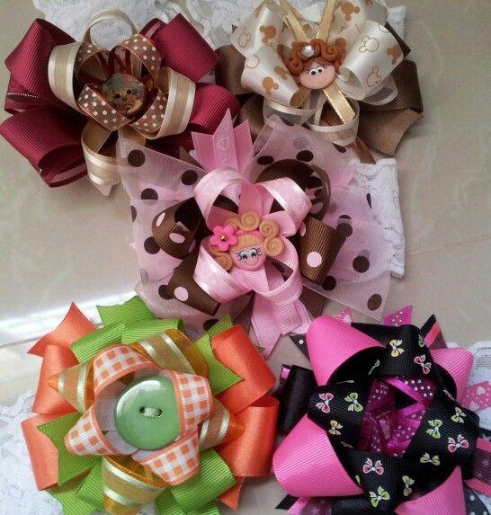 Hairbows for baby girls lazos para beb s con cinta - Lazos para bebes ...