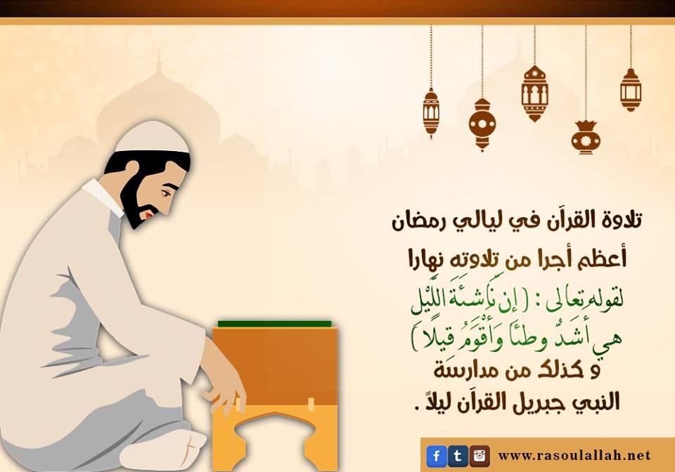 تلاوة القرآن لا تختص بنهار رمضان فقط فكن تاليا لكتاب الله في الليل و النهار Poster Movie Posters Movies
