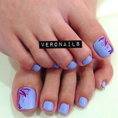 pastel purple  gel nails at home pedicure nail art