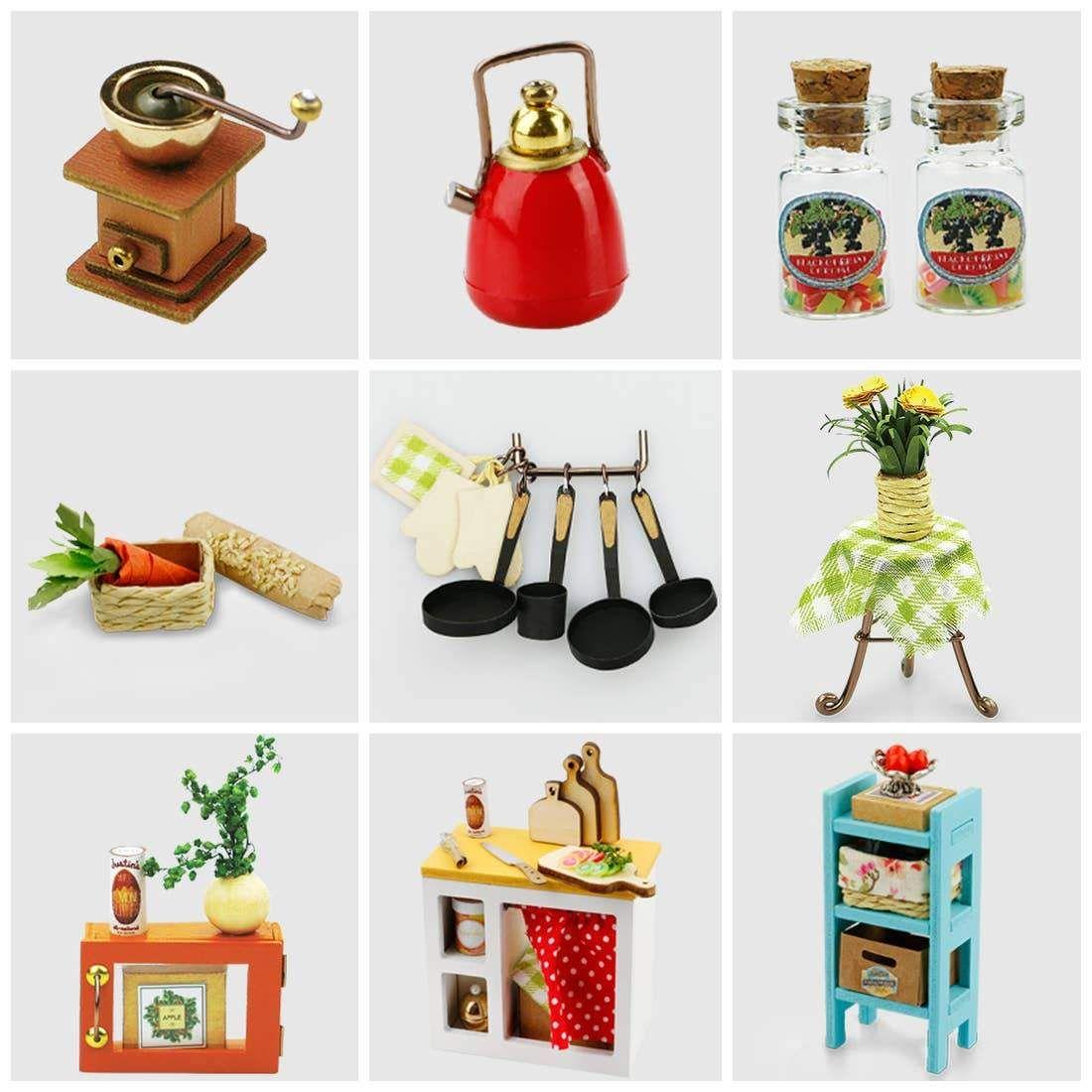 Photo of DIY Miniature Dollhouse Crafting Kit: Cozy Kitchen