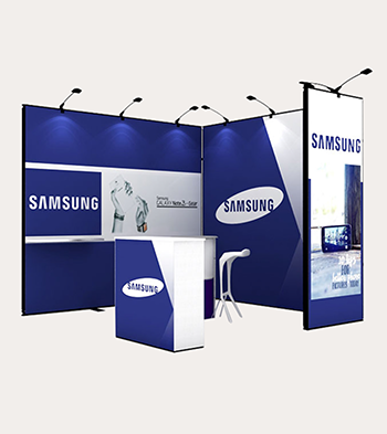 Portable Exhibition Stands In : Vivid ads manufacture portable exhibition displays backdrop stands