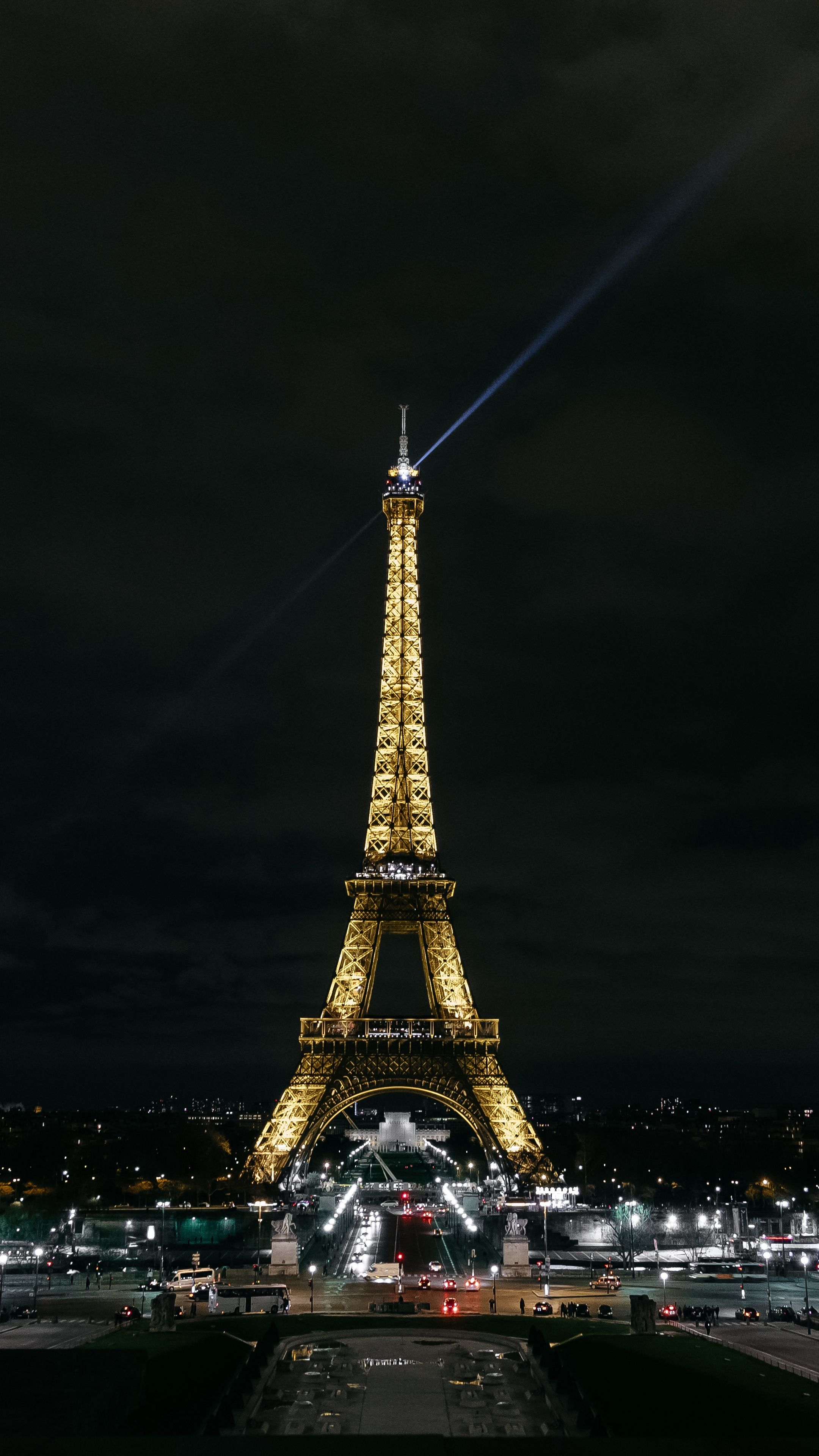 Places eiffel tower, paris, night city android