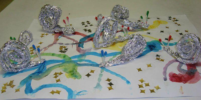 Escargots d 39 aluminium escargot pinterest escargot escargot maternelle et les cahiers de - Escargot maternelle ...