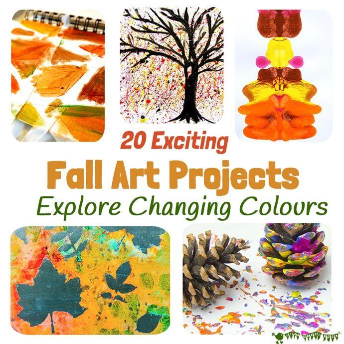 FANTASTIC FALL ART IDEAS FOR KIDS #autumncolours
