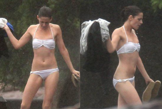 Kristen Stewart Bikini Beach