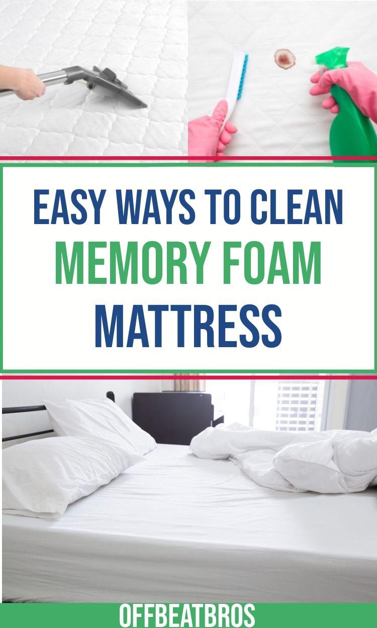 How To Clean Memory Foam Mattress Clean Memory Foam Mattress Foam Mattress Memory Foam