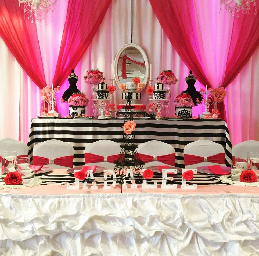 French / Parisian Quinceañera Party Ideas | Photo 8 of 23
