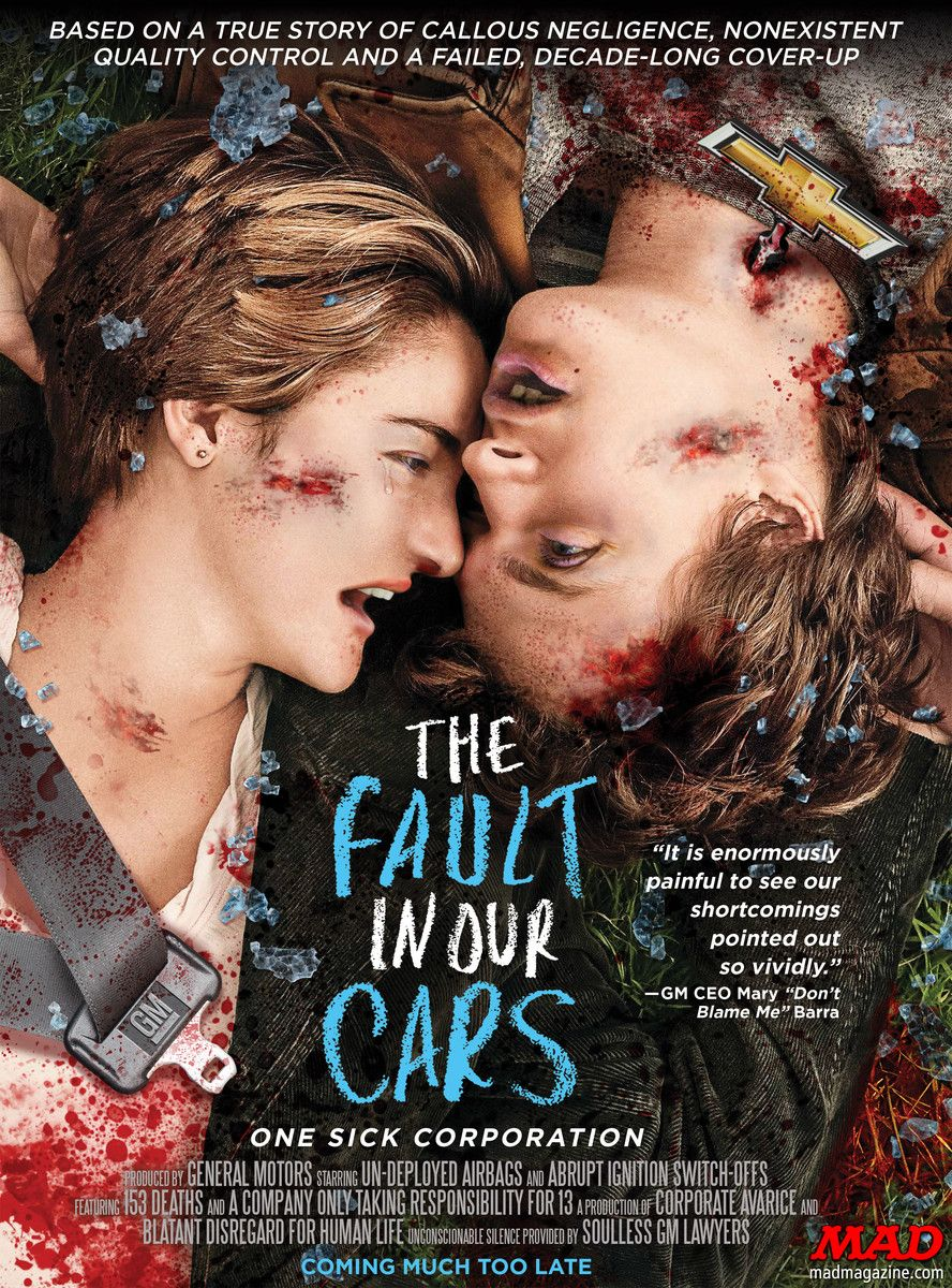 mad magazine �the fault in our cars� a mad movie poster