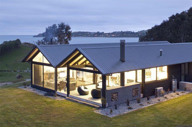 Modern Architecture New Zealand mason and wales architecture - moeraki bach   stunning