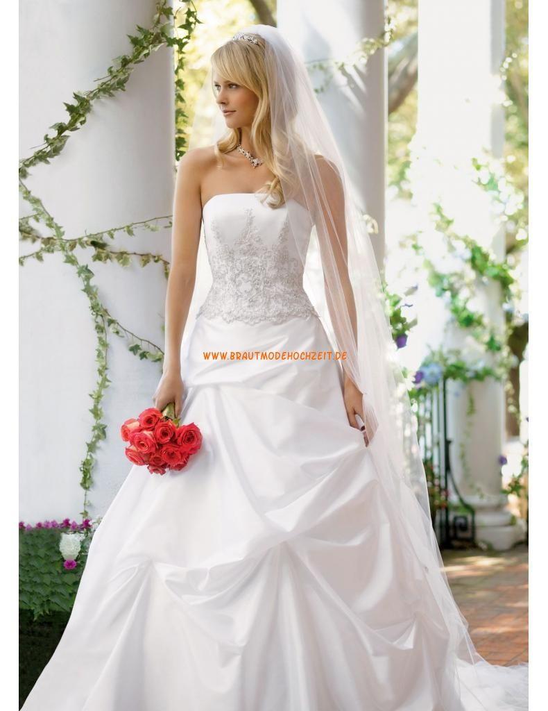 Designes Brautkleider 2014 aus Satin mit Stickerei   Happy ever ...