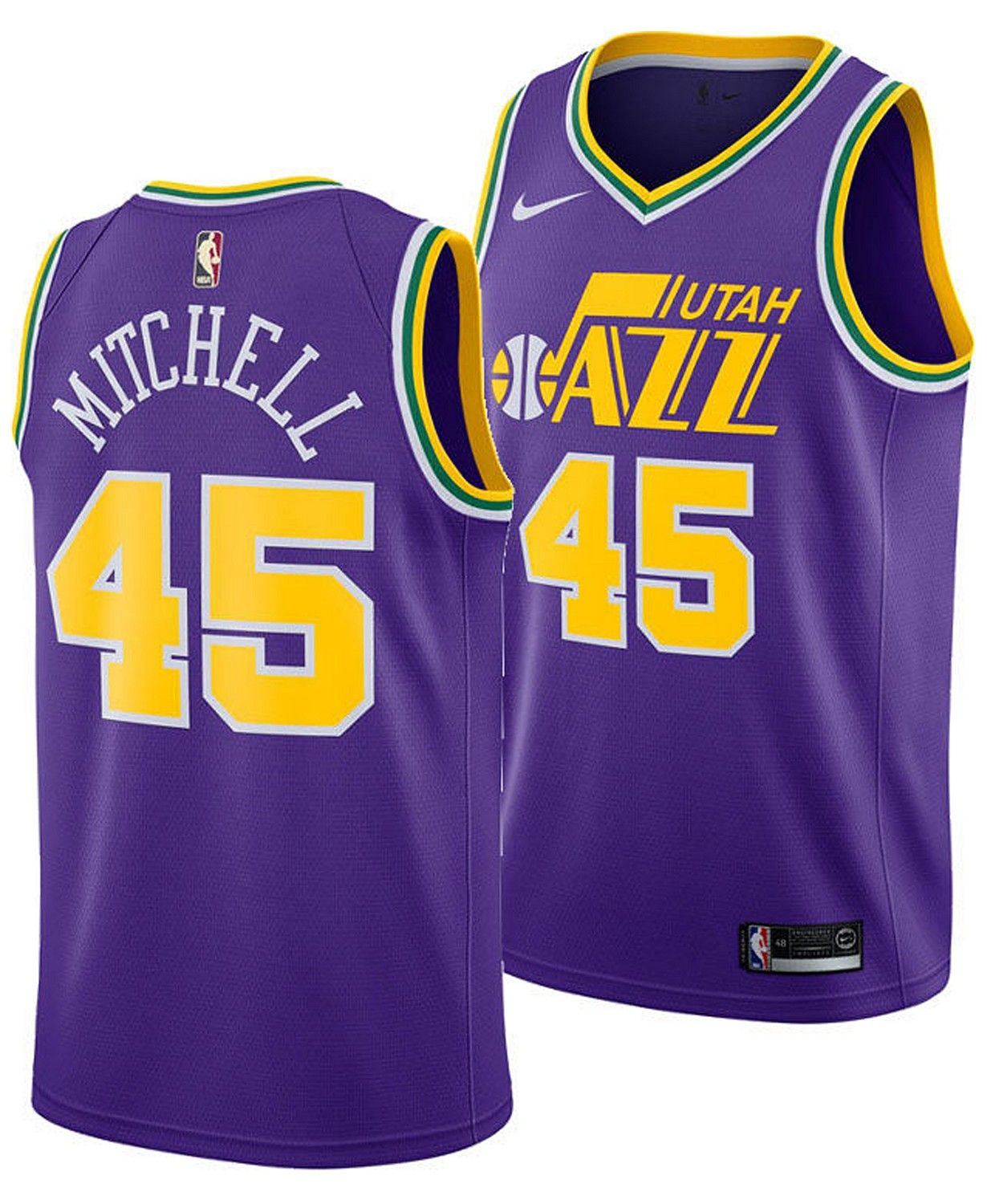 premium selection c8eab 31907 Men's Donovan Mitchell Utah Jazz Hardwood Classic Swingman ...