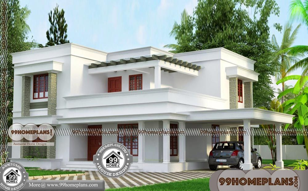 2 Bhk House Plans 30x40 In Narrow Lots Low Budget Home Construction With 2 Storey Villa Designs Small House Plans India Duplex House Design 2bhk House Plan