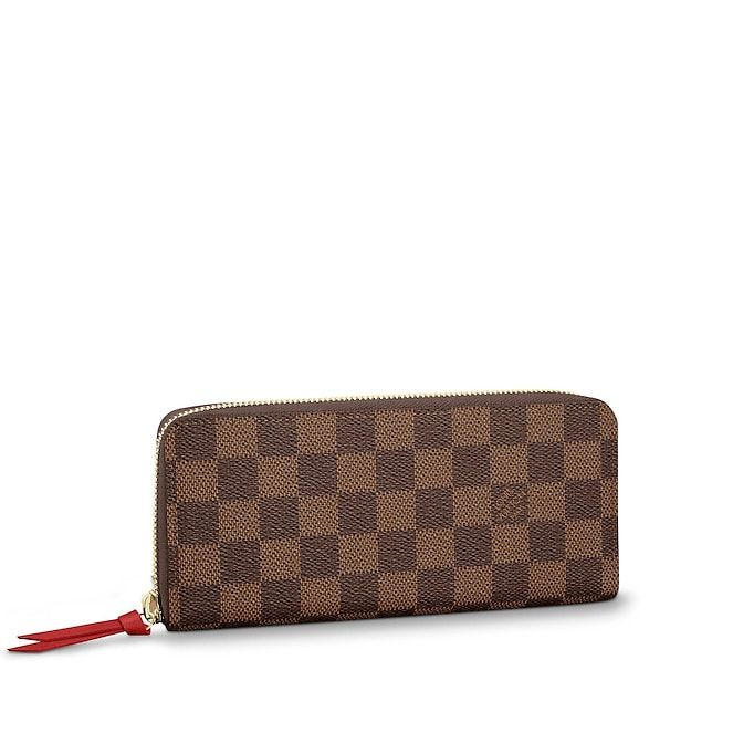 8f39e5314d0f View 1 - Damier Ebene SMALL LEATHER GOODS WALLETS Clémence Wallet ...