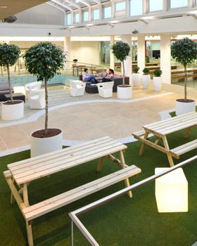 Incredible Outdoor Spaces Your Office Needs Scape Accommodation - Office picnic table