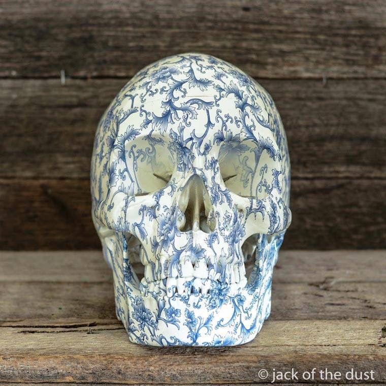 Decoupaged skull Skull, Art, Skull art