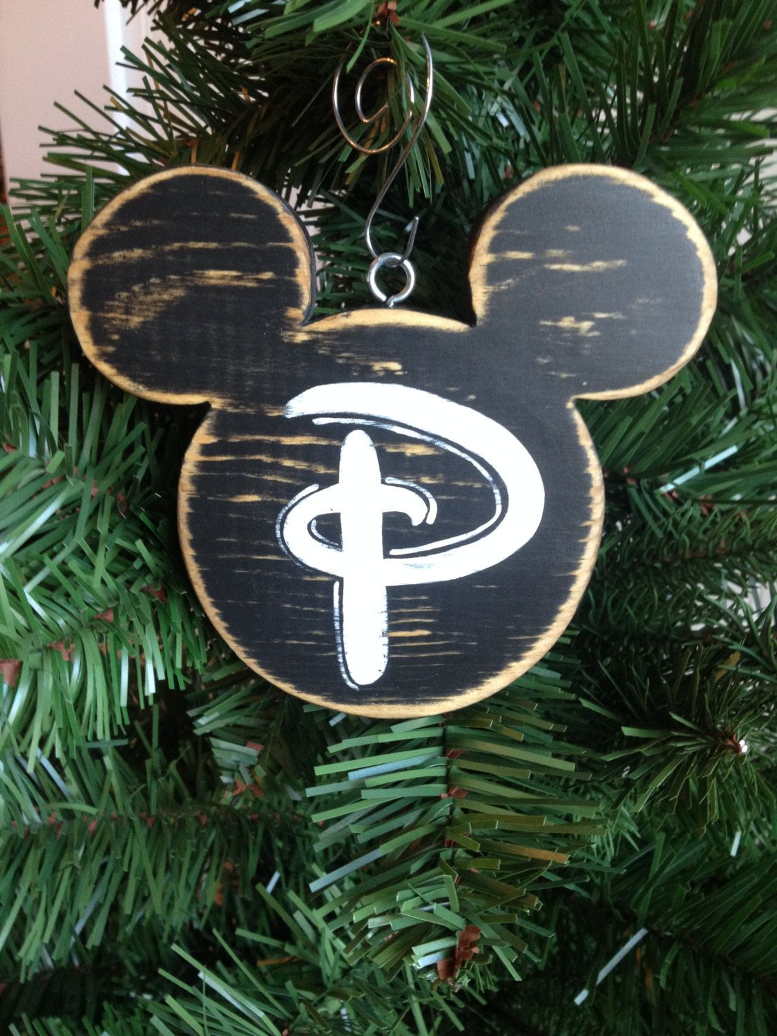 Mickey Mouse Christmas Wood Ornament Holiday By Celebrateornaments 12 00 Disney Christmas Ornaments Disney Christmas Tree Mickey Mouse Christmas