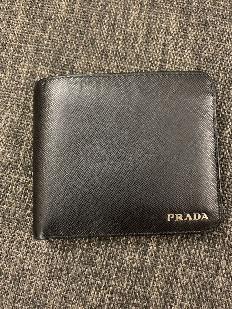 093e178b76e255 Authentic Prada Black Saffiano Bi Fold Men's Leather Wallet #fashion  #clothing #shoes #accessories #mensaccessories #wallets (ebay link)