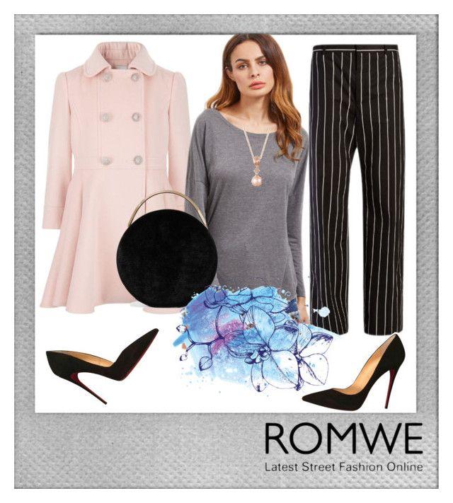 """Romwe"" by adln99 on Polyvore featuring Polaroid, Balenciaga, Christian Louboutin, Eddie Borgo and LE VIAN"