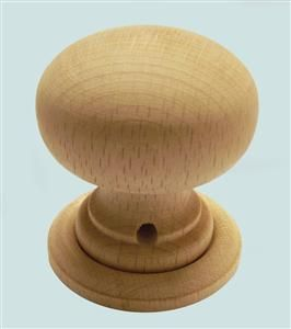 Beech Sanded Wooden Mortice Door Knob Set - Plain (Pair)   Wooden ...