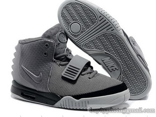 super popular d4024 56a5a NIKE AIR YEEZY 2 Yeezy II NRG KANYE WEST Basketball Shoes Gray