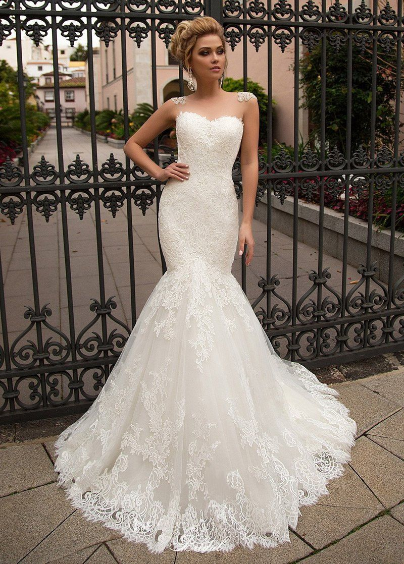 Photo of Wedding Dresses Simple, Chic Tulle & Organza Jewel Neckline …