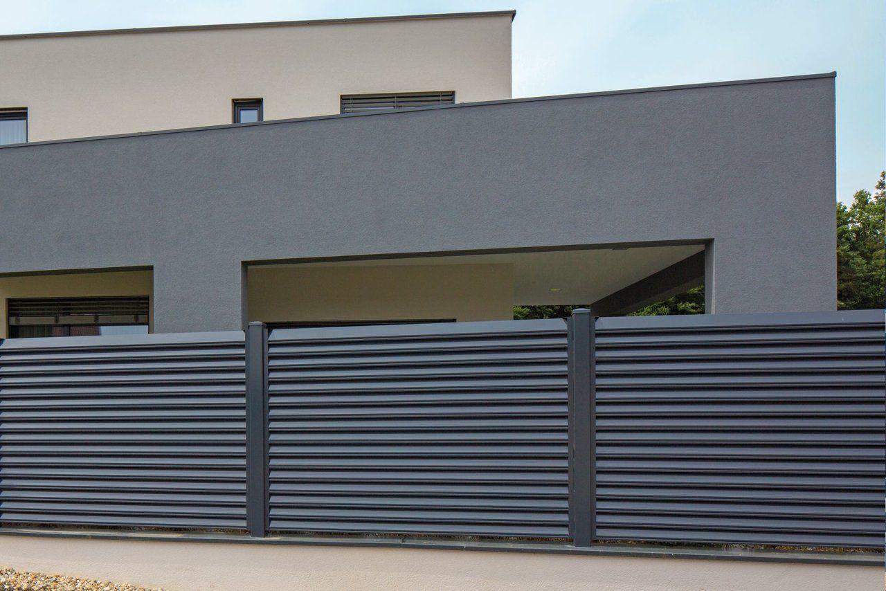 Lamellenzaun Trento modernes Design aus Aluminium